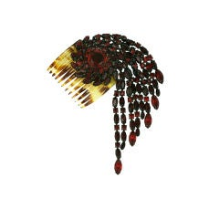 Roger Jean Pierre French Swirled Ruby Hair Ornament, 1950s