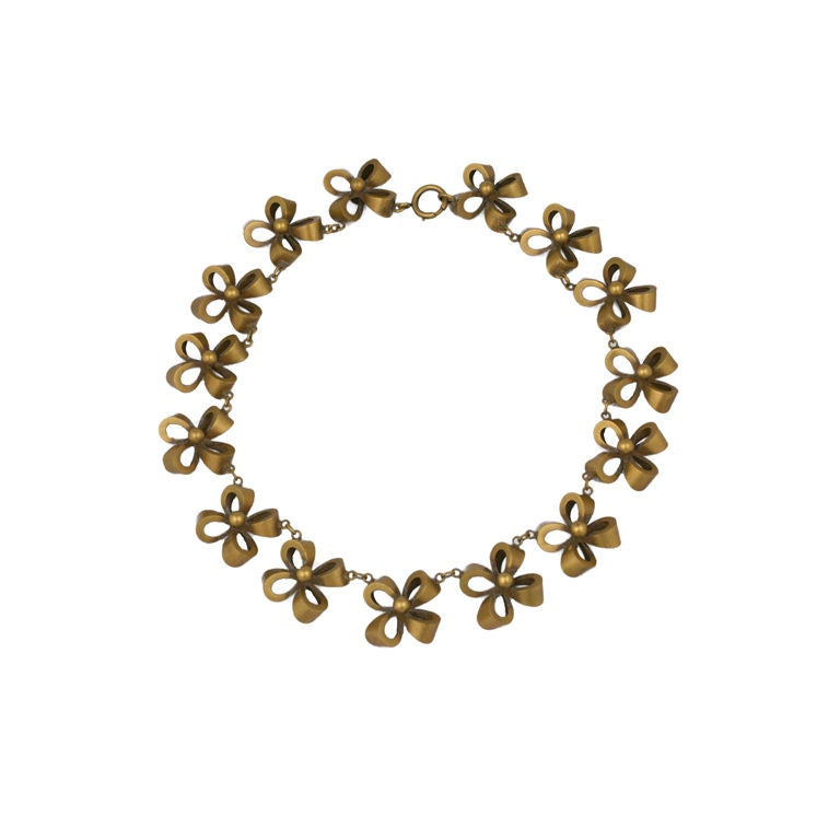 Joseff of Hollywood Retro  Bow Knot Necklace 1