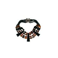 Unusual Bakelite and Resin Bead Collar