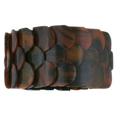 Unusual French Bakelite Fish Scale Bracelet