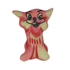 "1930s Bakelite ""Goofy"" Cat Brooch"