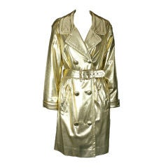 Glamorous Vintage Gold Lame Trench, 1960s