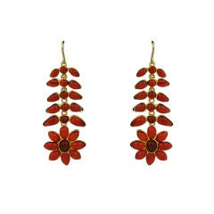 Ruby Poured Glass Georgian Earring, MWLC Collection