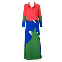 Roberta di Camerino Trompe L'Oeil Dress