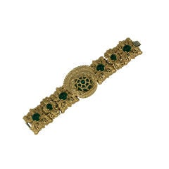 Napier Caged Emerald Mogul Bracelet