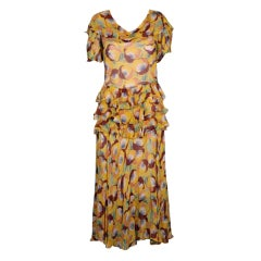 Deco Chiffon Print Dress