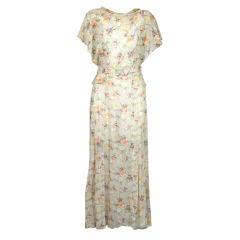 Floral Cotton Voile Afternoon Dress, 1930s