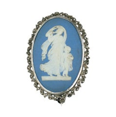 Marcasite and  Wedgewood Brooch