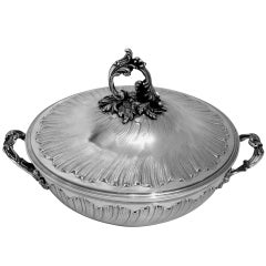 Gavard Fabulous French Sterling Silver Covered Serving Dish/Tureen Rococo