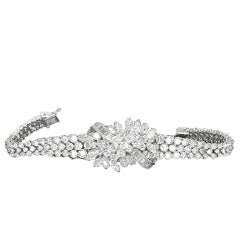 Diamond Lady's White Gold  Bracelet