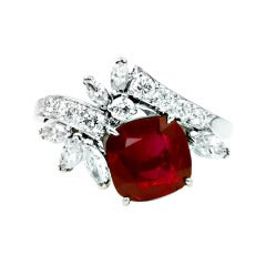 Raymond Yard Burma Ruby No Heat Ring