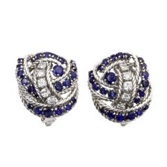 Tiffany & Co. Sapphire Diamond Earrings