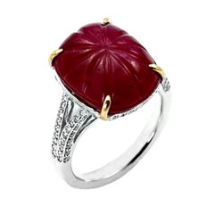 Ruby Carving Cabochon Ring