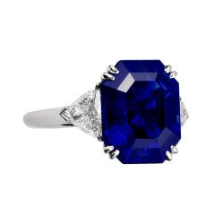 10.34 Carat Royal Blue No-Heat Burma Sapphire Engagement Ring