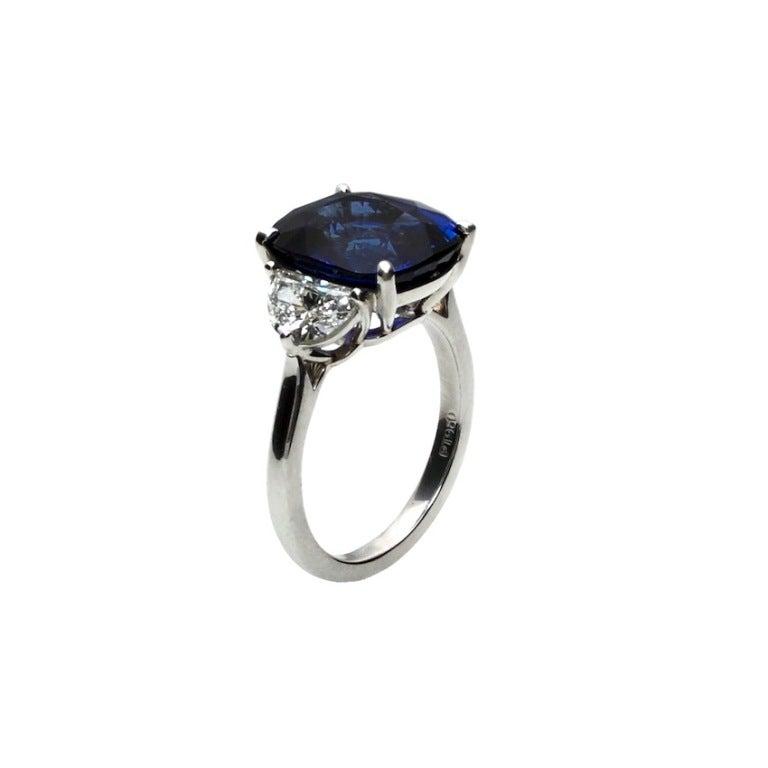 7 86 carat ceylon blue sapphire and engagement