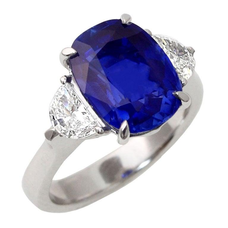 Rare 5.54-Carat No-Heat Kashmir Sapphire Diamond ...
