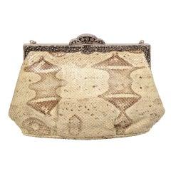 Jacomo  Skin Bag with Marcasite Frame