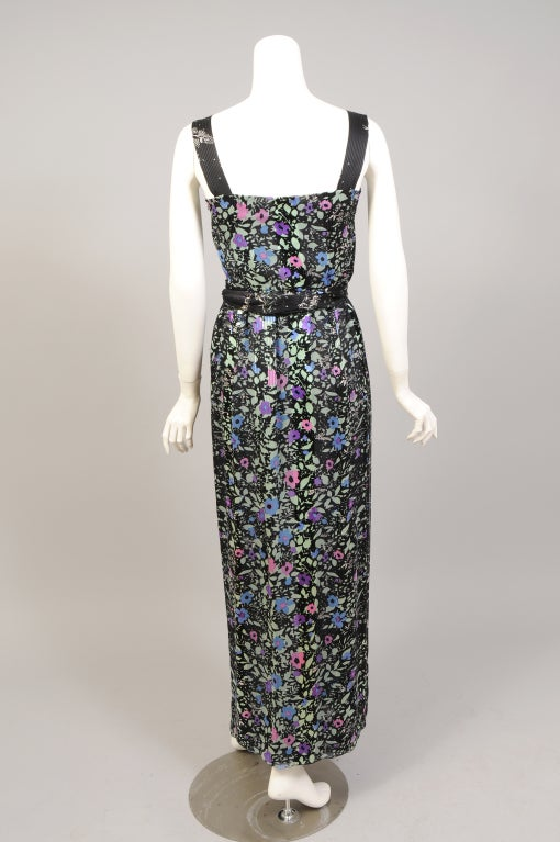 "Black 1970's Pauline Trigere ""Coming & Going"" Dress & Top For Sale"