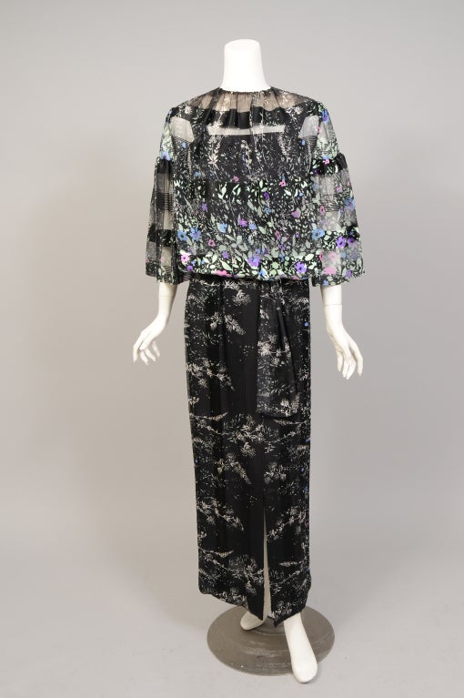 "Women's 1970's Pauline Trigere ""Coming & Going"" Dress & Top For Sale"