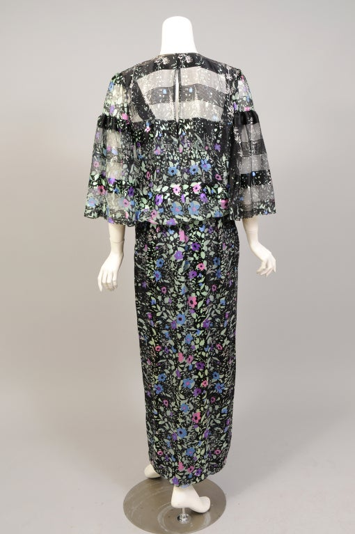 "1970's Pauline Trigere ""Coming & Going"" Dress & Top For Sale 3"