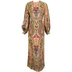 Galanos Two Piece Silk Dress & Slip Dress