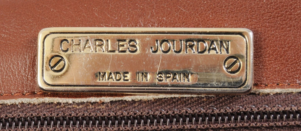 Charles Jourdan Copper Snakeskin Clutch or Shoulder Bag In Excellent Condition For Sale In New Hope, PA