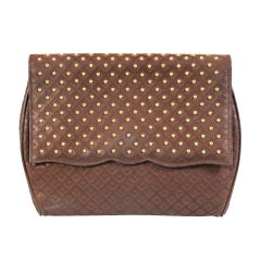 Luc Benoit Studded Suede Bag