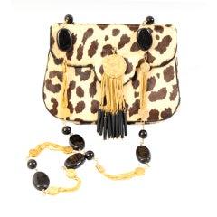 Jacomo Stencilled Fur Bag