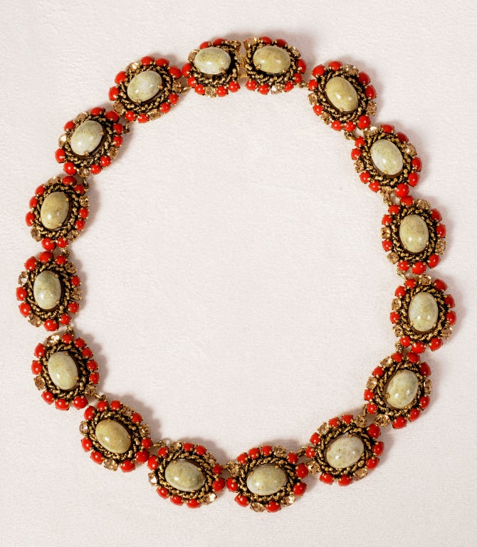 Christian Dior Jeweled Necklace Dated 1964 2
