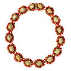 Christian Dior Jeweled Necklace Dated 1964
