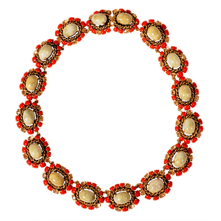 Christian Dior Jeweled Necklace Dated 1964 1