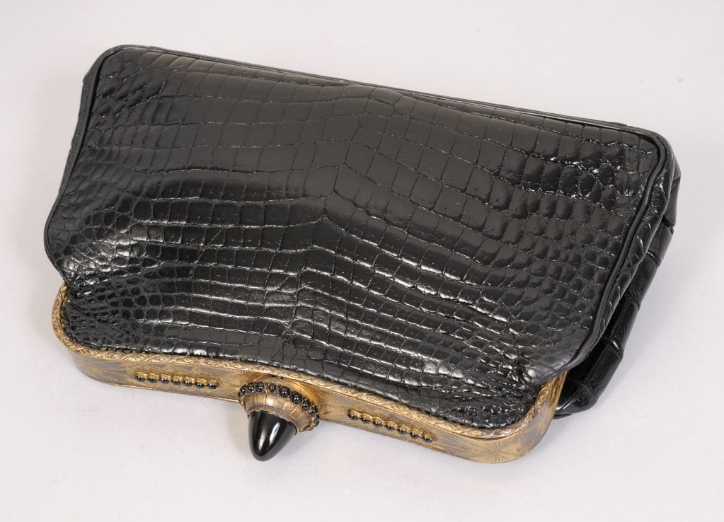 Jacomo Crocodile Clutch image 2