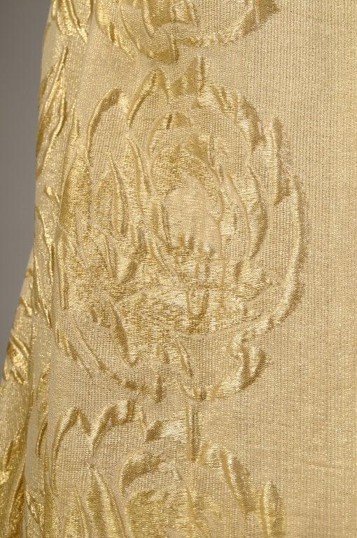 1920's Liberty Gold Lame Shawl - Never Worn 3
