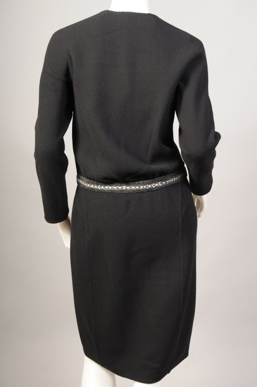Women's Chado Ralph Rucci Shagreen Trimmed Dress For Sale
