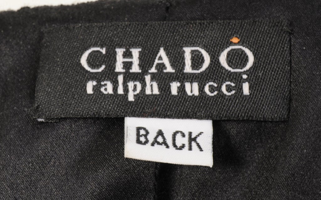 Chado Ralph Rucci Shagreen Trimmed Dress For Sale 1