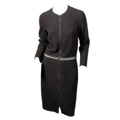 Chado Ralph Rucci Shagreen Trimmed Dress
