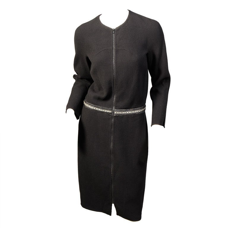 Chado Ralph Rucci Shagreen Trimmed Dress For Sale