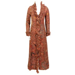 Easton Pearson Contemporary Paisley Coat Dress