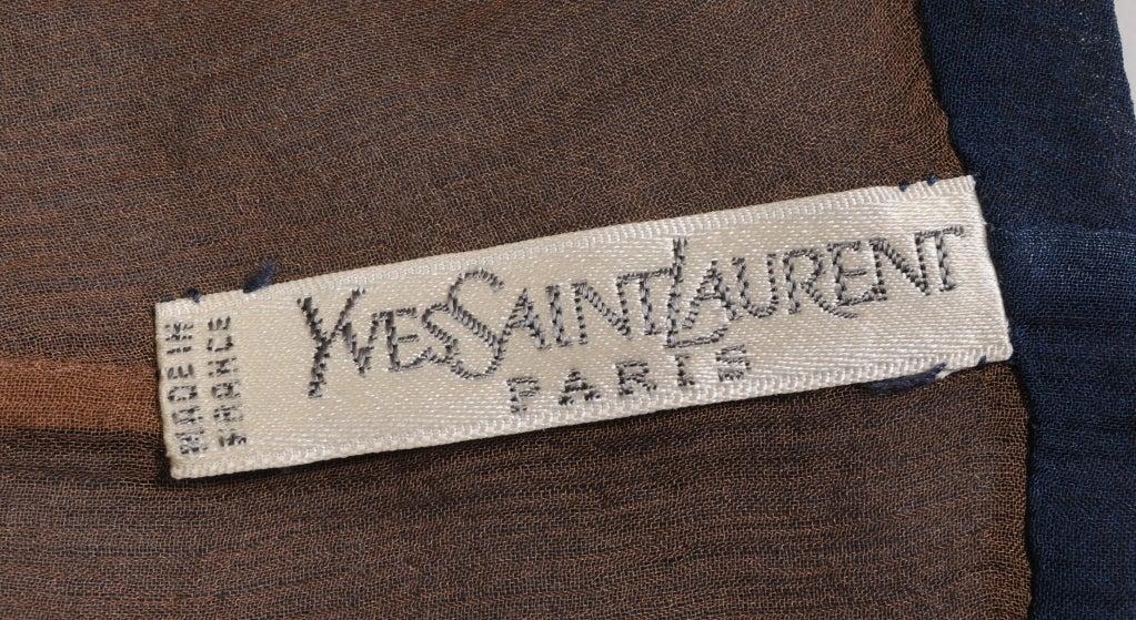 Yves Saint Laurent Haute Couture Chiffon Blouse For Sale 1