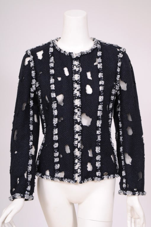 Karl Lagerfeld for Chanel Iconic Met Museuem Punk Jacket 2