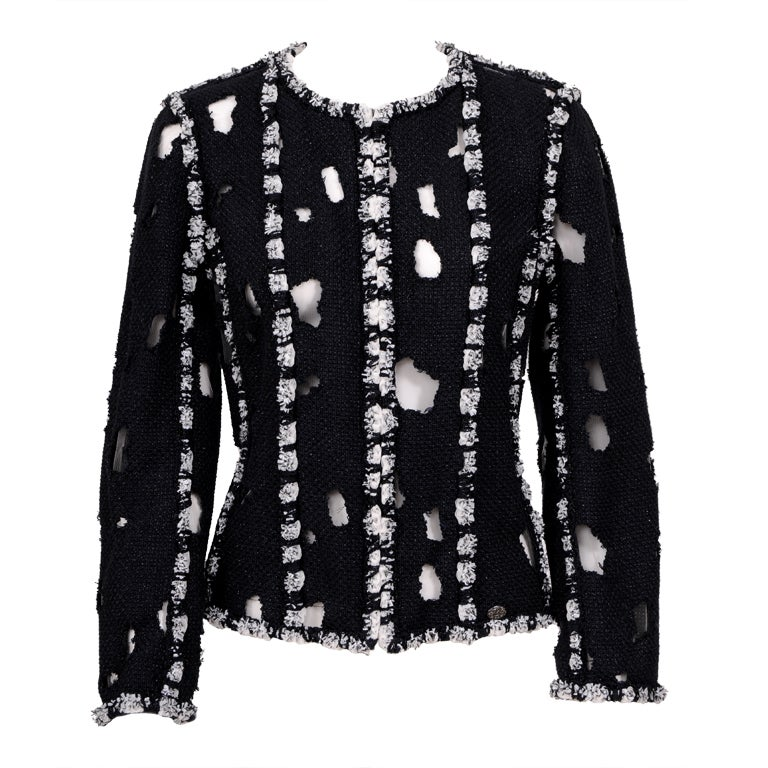 Karl Lagerfeld for Chanel Iconic Met Museuem Punk Jacket 1