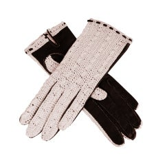 Crochet & Leather Gloves