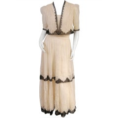 Edwardian Embroidered Tulle Dress & Jacket
