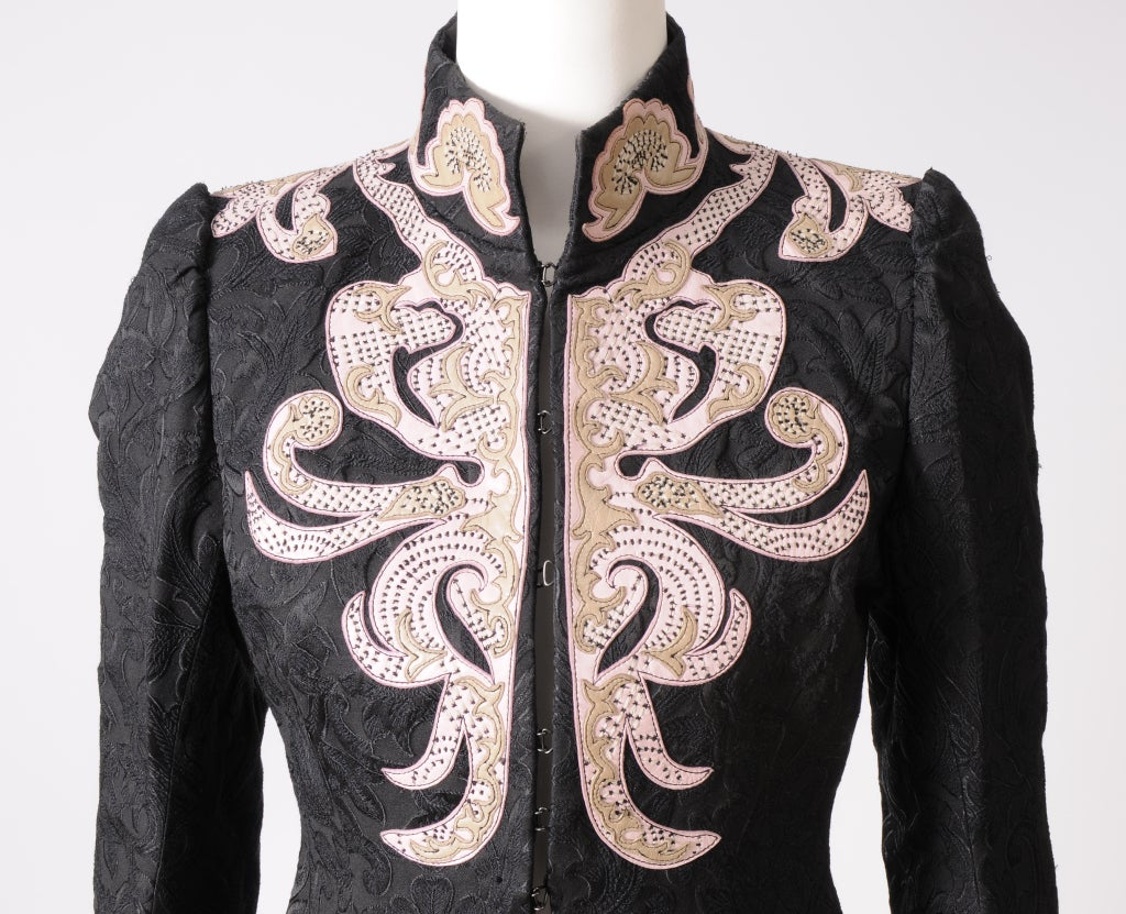 Christian Lacroix Embroidered Leather Trimmed Suit 3