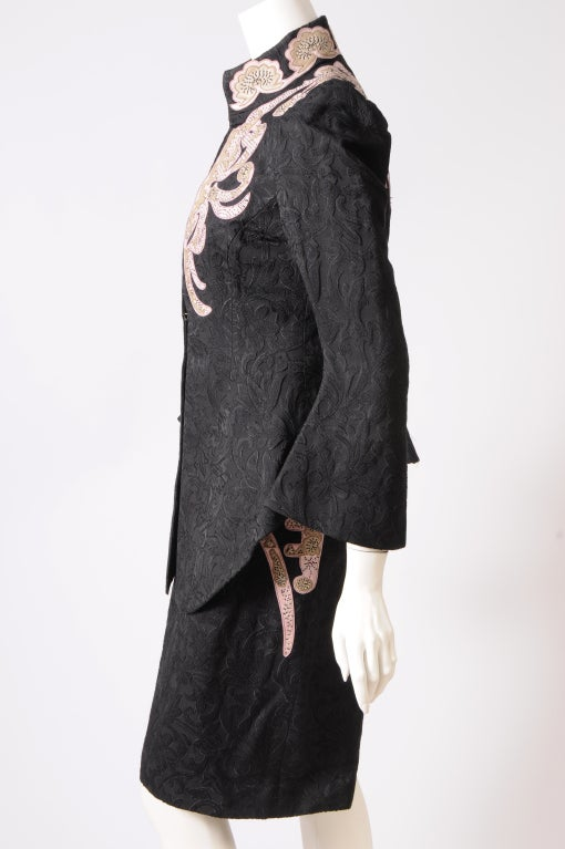 Christian Lacroix Embroidered Leather Trimmed Suit 5