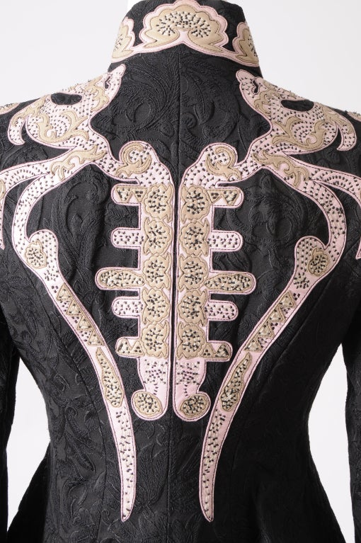 Christian Lacroix Embroidered Leather Trimmed Suit 7