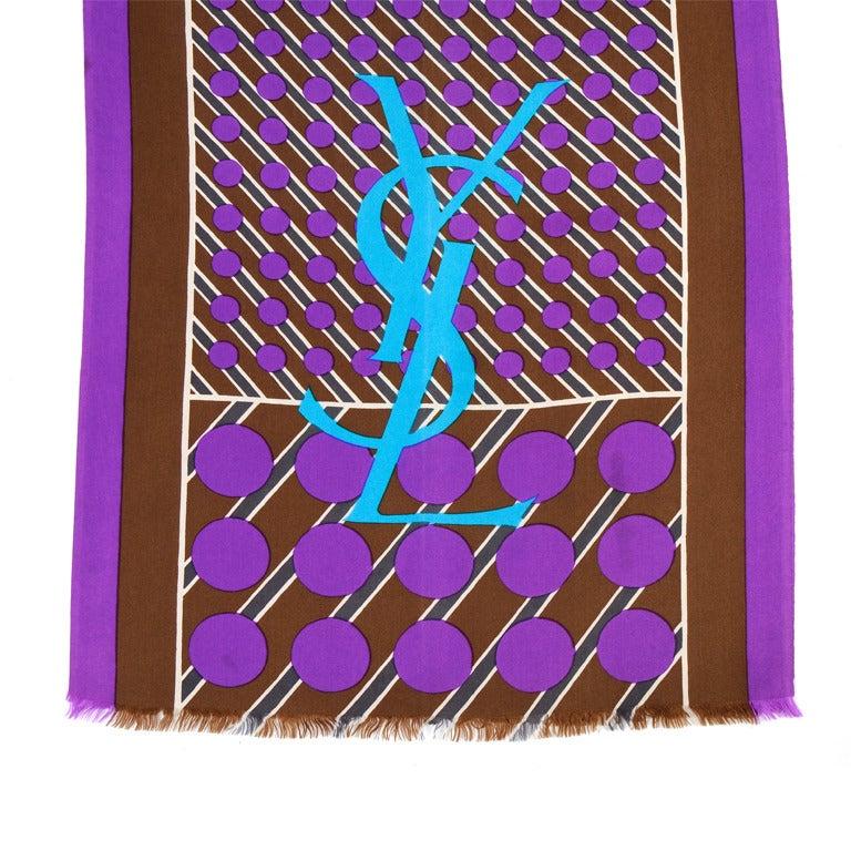 YSL Silk Scarf For Sale