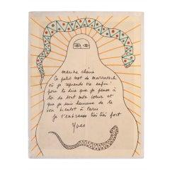 Yves Saint Laurent Original Drawing