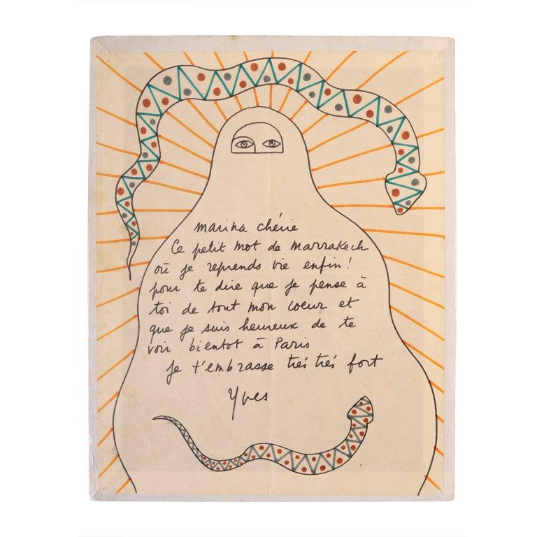 Yves Saint Laurent Original Drawing 1