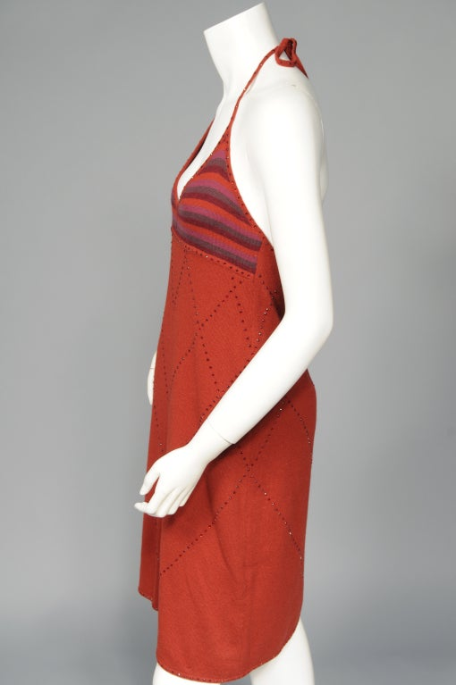 Laura Biagiotti Beaded Cashmere Dress 6